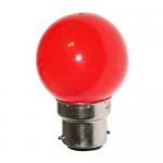 Sphérique Incandescence B22 15W Rouge