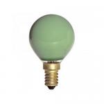 Sphérique Incandescence E14 15W Vert
