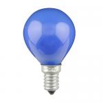 Sphérique Incandescence E14 15W Bleu
