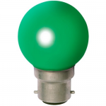 Sphérique Incandescence B22 15W Vert