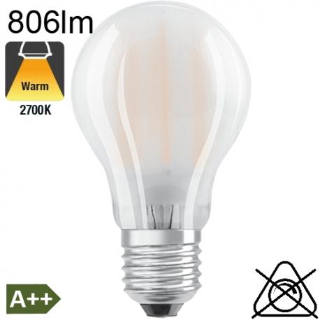 Standard Dépolie LED E27 806lm 2700K