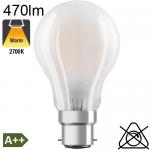 Standard Dépolie LED B22 470lm 2700K