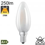 Flamme Dépolie LED E14 250lm 2700K