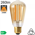 Edison ST64 Ambrée LED E27 260lm 2100K Dimmable