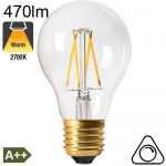 Standard LED E27 470lm 2700K Dimmable