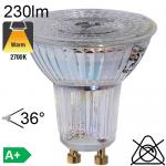 Spot LED GU10 230lm 2700K 36°