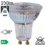 Spot LED GU10 230lm 4000K 36°