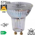 Spot LED GU10 575lm 2700K 36°