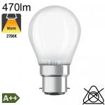 Sphérique Dépolie LED B22 470lm 2700K