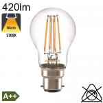 Sphérique LED B22 420lm 2700K