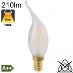 Flamme Coup de Vent Satinée LED E14 210lm 2700K