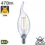 Flamme Coup de Vent LED E14 470lm 2700K