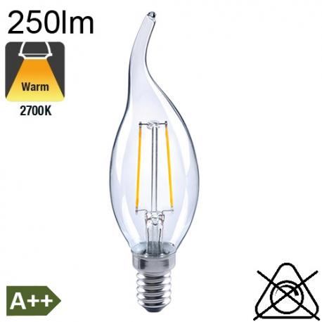 Flamme Coup de Vent LED E14 250lm 2700K