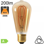 Edison ST64 Loop Ambrée LED E27 200lm 2000K Dimmable
