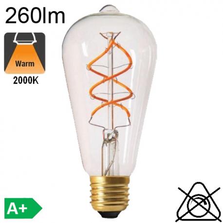 Edison ST64 Twisted LED E27 260lm 2000K