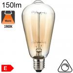 Edison ST64 Ambrée Incandescence E27 60W 150lm