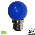 Sphérique LED B22 1W Bleu
