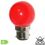 Sphérique LED B22 1W Rouge