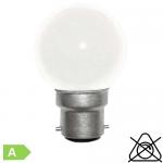 Sphérique LED B22 1W Blanc