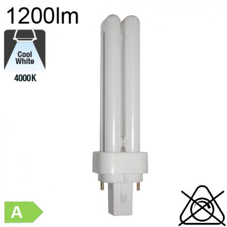 Fluo D Fluo-Compacte G24-d2 18W 1215lm 4000K