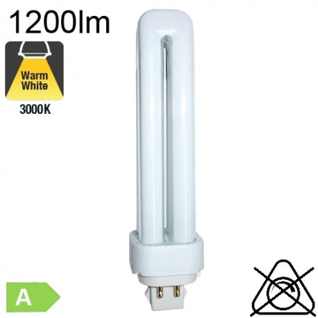 Fluo D/E Fluo-Compacte G24-q2 18W 1200lm 3000K