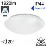 Hublot Led IP44 24W 1920lm 4000K avec sensor HF