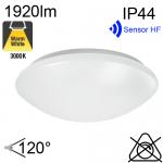 Hublot Led IP44 24W 1920lm 3000K avec sensor HF