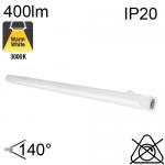 Réglette LED IP20 4W 400lm 3000K avec interrupteur
