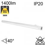 Réglette LED IP20 14W 1400lm 3000K avec interrupteur