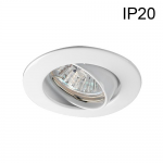 Support Blanc Orientable pour spot Ø50 sans lampe