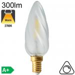 Flamme Torsadée Satinée LED E14 300lm 2700K Dimmable