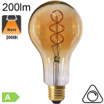 Géante Twisted Ambrée LED E27 200lm 2000K Dimmable