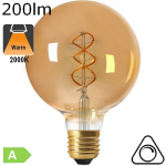 Globe Twisted LED E27 200lm 2000K Dimmable