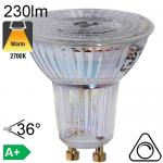 Spot LED GU10 230lm 2700K 36° Dimmable