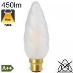 Flamme Géante Dépolie LED B22 450lm 2700K