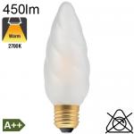 Flamme Géante Dépolie LED E27 450lm 2700K