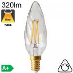 Flamme Torsadée LED E14 320lm 2700K Dimmable