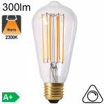 Edison ST64 LED E27 300lm 2300K Dimmable