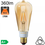 Edison ST64 Ambrée LED E27 360lm 1700K Dimmable