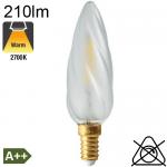 Flamme torsadée Dépolie LED E14 210lm 2700K