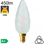 Flamme Géante Satinée LED E14 450lm 2700K