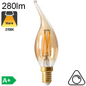 Flamme Coup de Vent Ambrée LED E14 280lm 2700K Dimmable