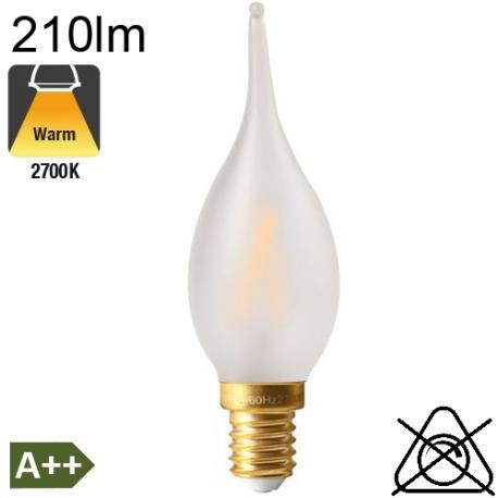 Flamme Grand Siècle Dépolie LED E14 210lm 2700K