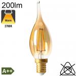 Flamme Grand Siècle Ambrée LED E14 200lm 2700K