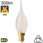 Flamme Grand Siècle Dépolie LED E14 300lm 2700K Dimmable