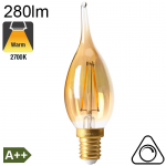 Flamme Grand Siècle Ambrée LED E14 280lm 2700K Dimmable