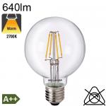 Globe LED Ø80 E27 640lm 2700K