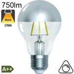 Standard Calotte Argentée LED E27 750lm 2700K Dimmable