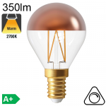 Sphérique Calotte Bronze Led E14 350lm 2700K Dimmable