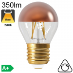 Sphérique Calotte Bronze Led E27 350lm 2700K Dimmable